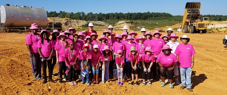 SciGirls visited the BASF quarry.