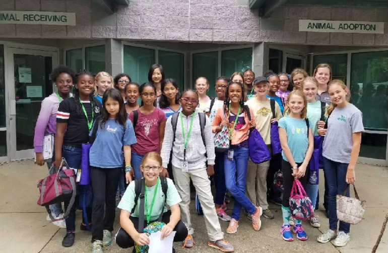 SciGirls at the Tallahassee Animal Services Center