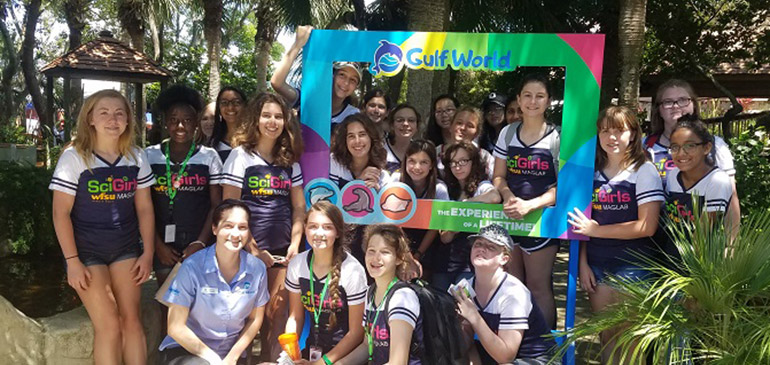 SciGirls in Gulf World