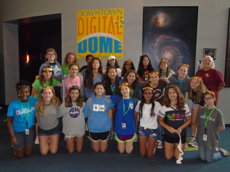 SciGirls at the Challenger Learning Center