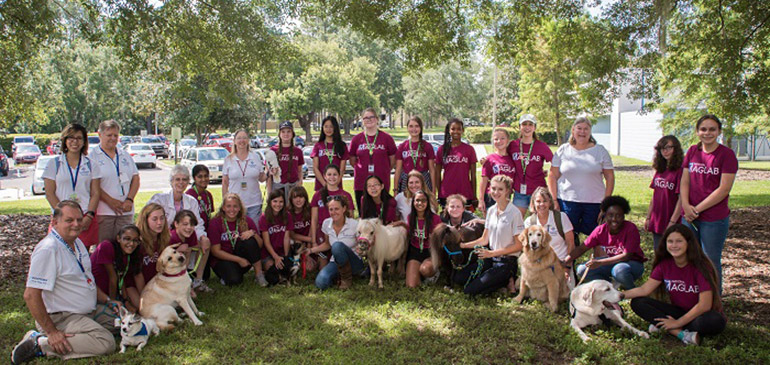 SciGirls 2 With TMH Animal Therapy