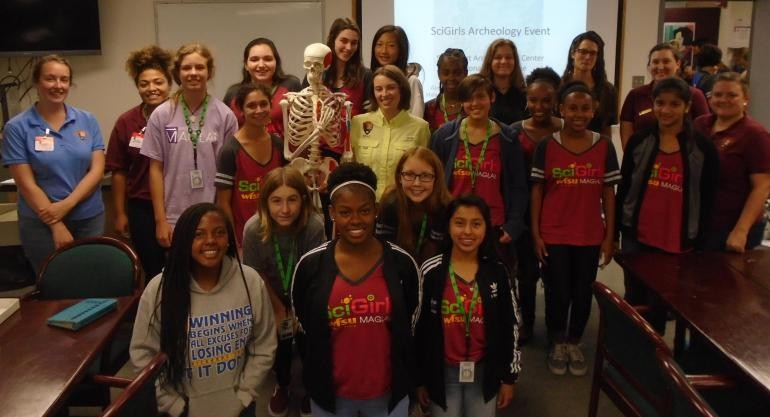 "SciGirls2 with Southeast Archeological Center and ""Pat"""