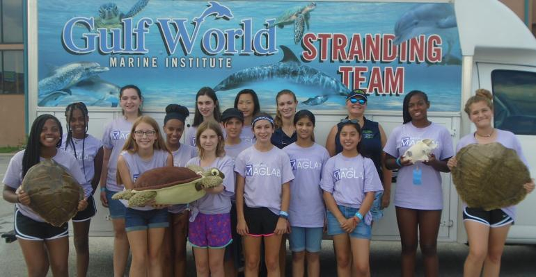 SciGirls 2 campers enjoyed their Gulf World experience