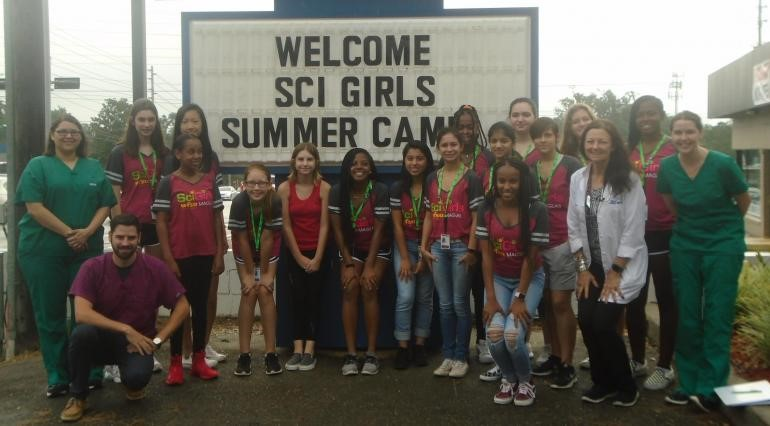 SciGirls2 visit Novey Animal Hospital