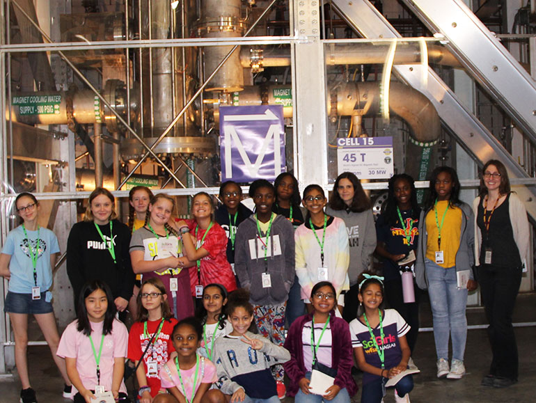 SciGirls Discover 2019 day1 at 45tesla