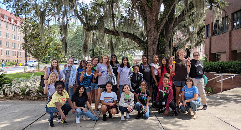 SciGirls Quest outside FSU's Innovation Hub