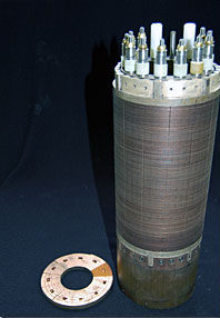 A resistive magnet coil.