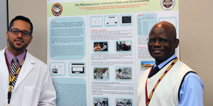 Teachers at an RET poster session in 2014.