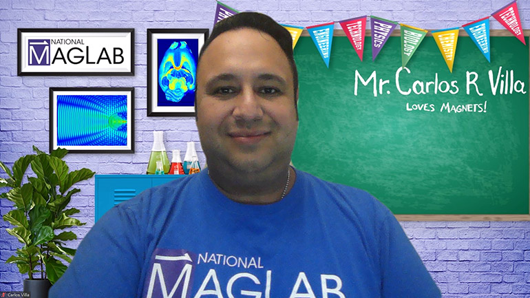 MagLab educator Carlos Villa is in Virtual Classroom