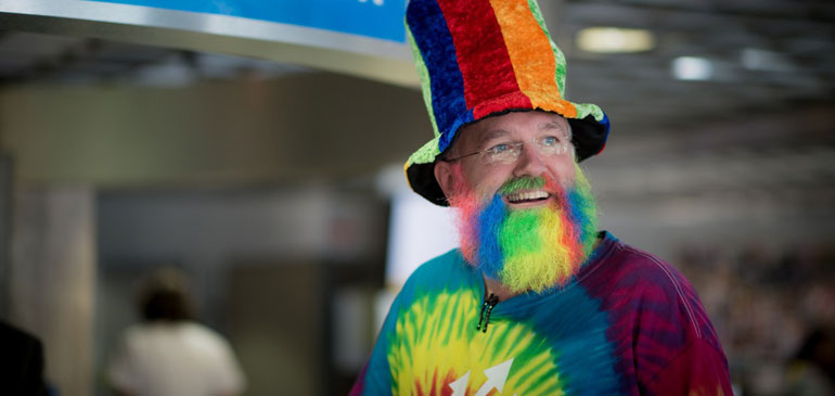 Greg Boebinger decked out for the MagLab Open House.