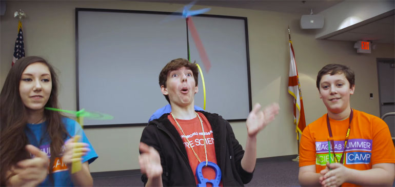 MagLab Rapper Noah Fuentes clowns around at Open House