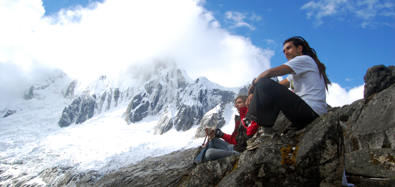 Charlie Sanabria in the Andes.