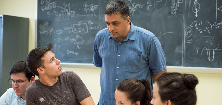 MagLab physicist Irinel Chiorescu teaches a class at Florida State University.