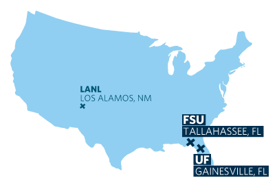 map of Tallahassee and Gainesville, Florida