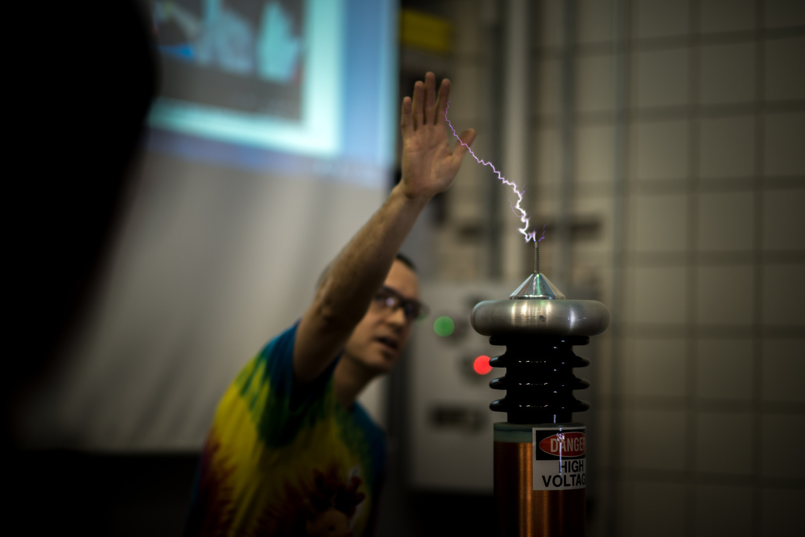 Tesla coil demonstration at Open House