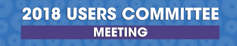 2018 User Committee Meeting Banner