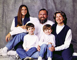 Boebinger and family in 1998.