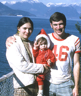 Alan and Marilyn Marshall, with daughter Wendy, in Vancouver in 1970.