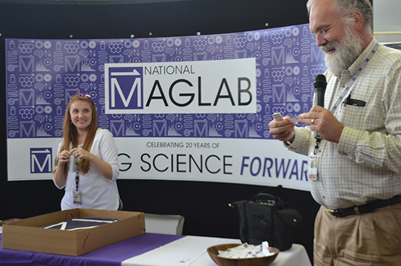 Unveiling the new MagLab logo.