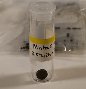A sample of manganese gallium