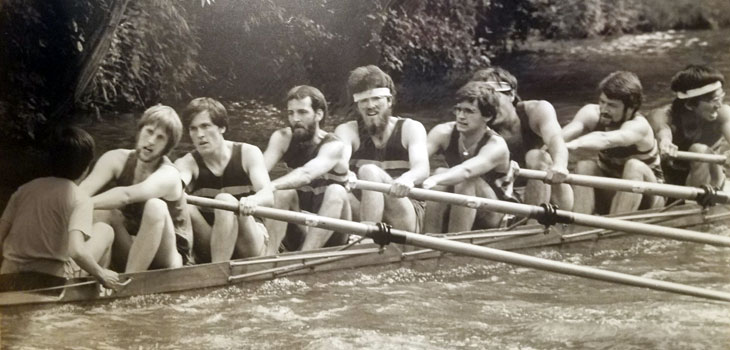 Greg Boebinger rowing at Cambridge University