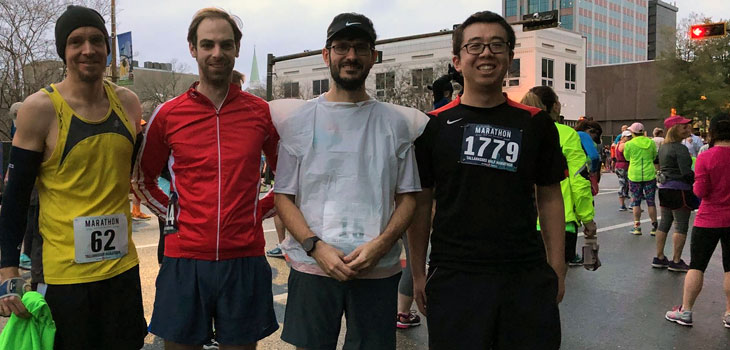 MagLab scientists ran in the 2018 Tallahassee Marathon