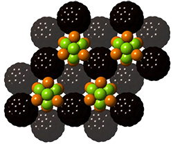 This is a super-atom assembly containing two distinct super atoms.