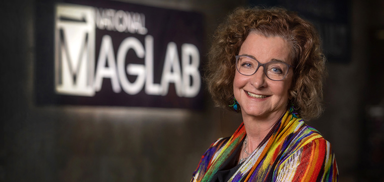 Laura Greene, chief scientist at the National MagLab