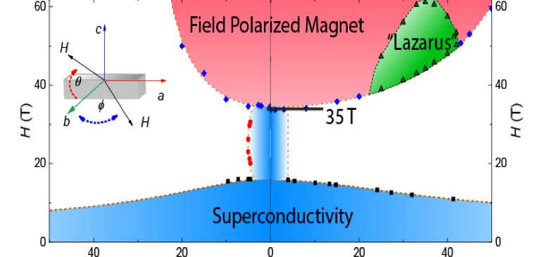 Magnetic field versus angle dependence of the superconducting phases in UTe2.