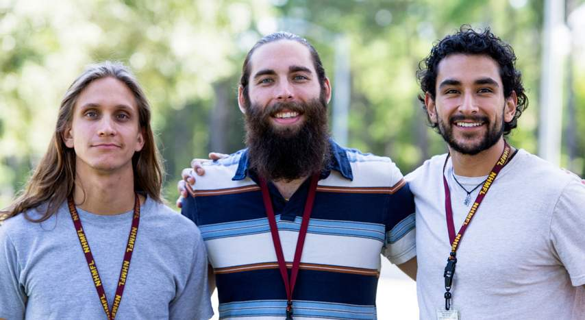 Applied Superconductivity graduate research assistants (from left to right) Maxime Matras, Chris Segal and Charlie Sanabria .