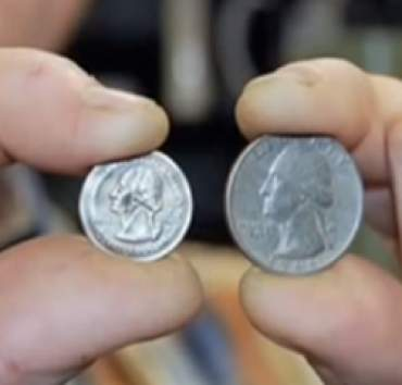 Shrinking quarter demonstration