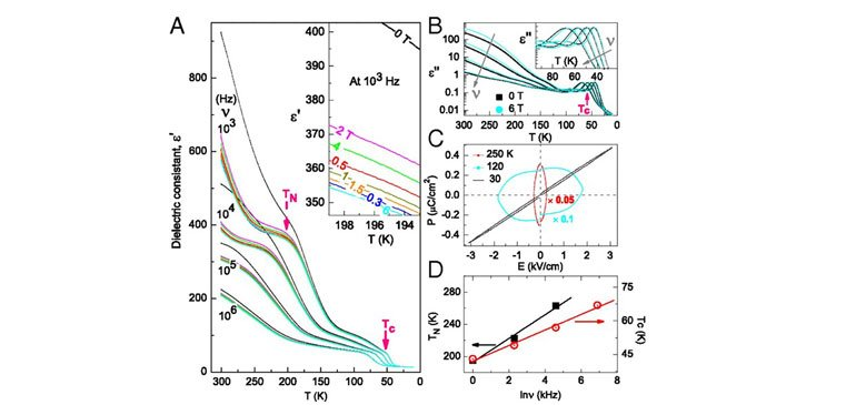 Dielectric measurement of α-PbCrO3 at ambient pressure.