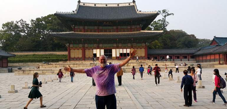 MagLab Director Greg Boebinger at the Changdoek Palace in Seoul, South Korea.