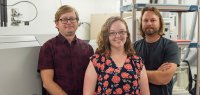 Chelsie Bowman (center), Seth Young (left), and Jeremy Owens (right), Bowman is the lead author and a Ph. D. candidate and Young and Owens are assistant professors in the Department of Earth, Ocean and Atmospheric Science.