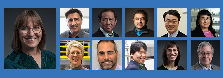 New APS fellows include MagLab scientist Vivien Zapf (left) as well as 10 users. They are, on top row (left to right), Enrique Del Barco, Han Htoon, Debdeep Jena, Kee Hoon Kim, ChunNing Jeanie Lau; on second row (left to right), Jan Musfeldt, Johnpierre Paglione, Takasada Shibauchi, Laura Beth Smilowitz, Stuart Trugman.