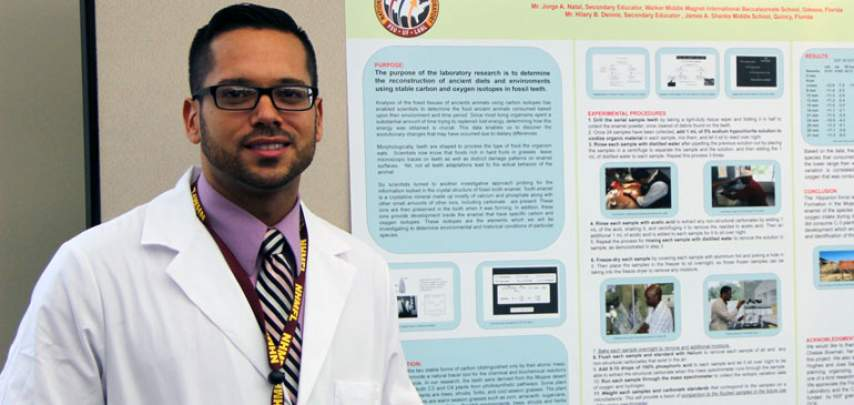 Science teacher Jorge Natal has done two summer research projects at the MagLab.