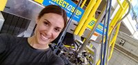 Kim Modic took this selfie during her recent visit to the MagLab's DC Field Facility.