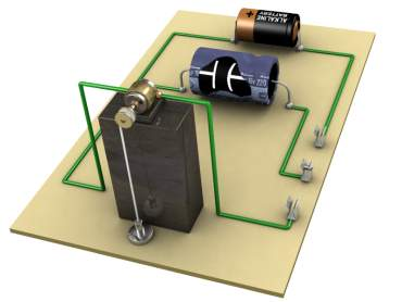 Illustration of a capacitor