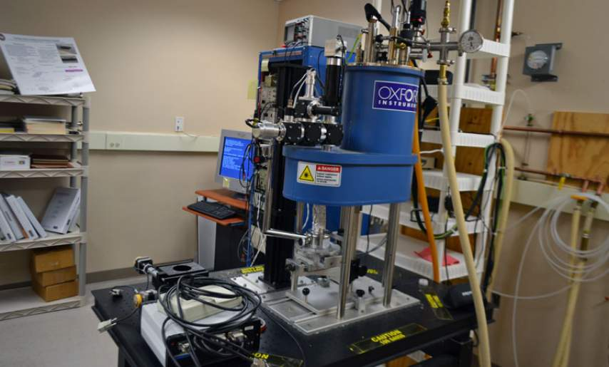 Low temperature laser scanning microscope.